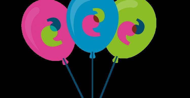 Graphic of three balloons