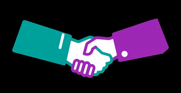 graphic of a handshake