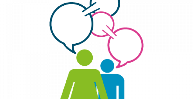 graphic of two people having a conversation