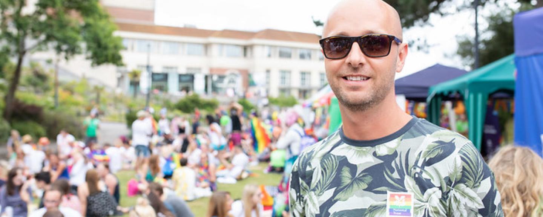 A man in sunglasses