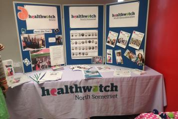 Healthwatch North Somerset display board