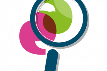 Magnifying glass over healthwatch icons