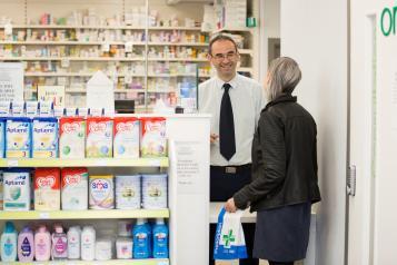 Man in a pharmacy