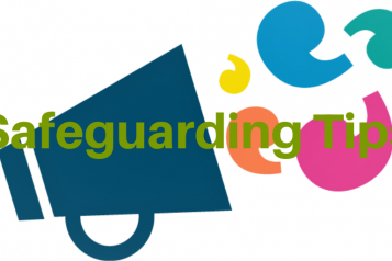 graphic of a megaphone saying 'Safeguarding'