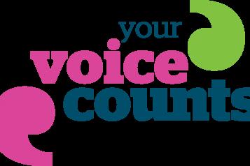 Your voice counts campaign logo