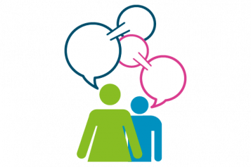 graphic - Healthwatch characters having a conversation