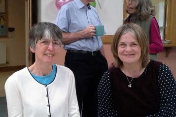 JAckie at a Healthwatch event with North Somerset team leader