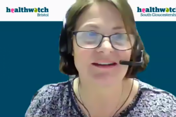 Zoom screen capture from Healthwatch webinar