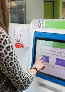 Using a digital screen in a health centre