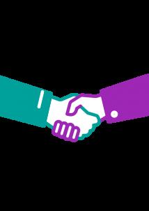 Healthwatch icon handshake